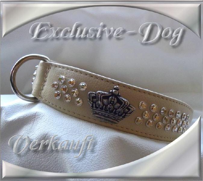 lederhalsb nder leder strass halsband hund kingly. Black Bedroom Furniture Sets. Home Design Ideas